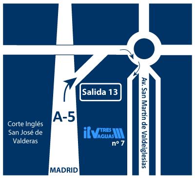 mapa itv en alcorcón