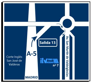 mapa itv de alcorcón
